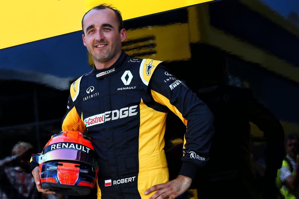 Robert Kubica em teste pela Renault, em Hungaroring (Foto: Reprodução)