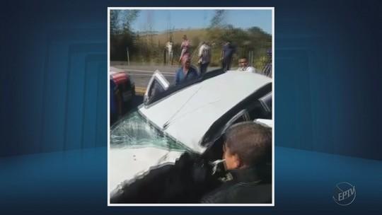Batida envolvendo 3 veículos mata motorista e deixa feridos na BR-459, em Piranguinho, MG