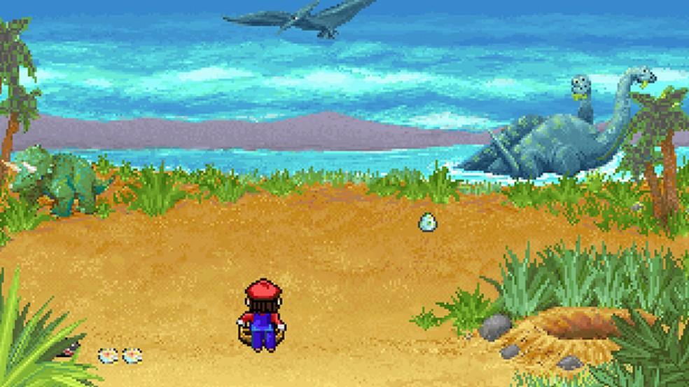 Mario's Time Machine é outro game educativo como Mario is Missing, porém com alguns minigames — Foto: Reprodução/Rafael Monteiro