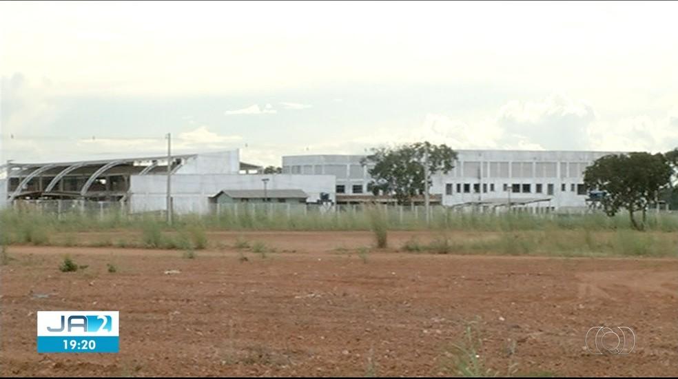 Obras do Hospital Geral de Gurupi foram retomadas pelo governo em 2019 — Foto: Reprodução/TV Anhanguera