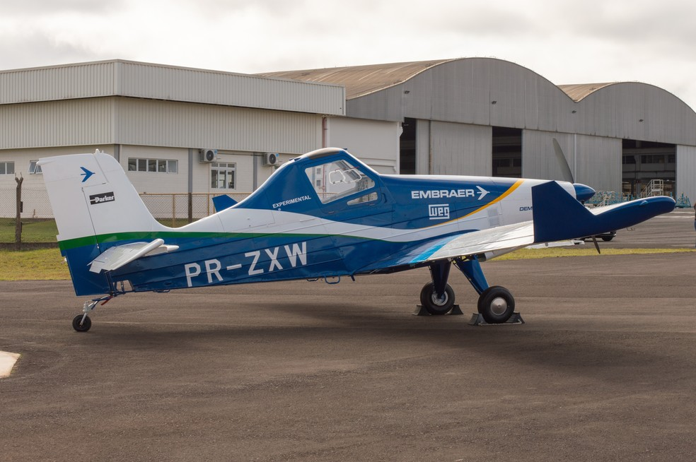 Embraer apresenta primeiras imagens de avião elétrico — Foto: Embraer/Divulgação