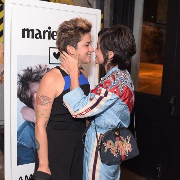 Lanlahn e Nanda Costa participam da festa de lançamento da Marie Claire de agosto (Foto: Alexandre Virgílio)