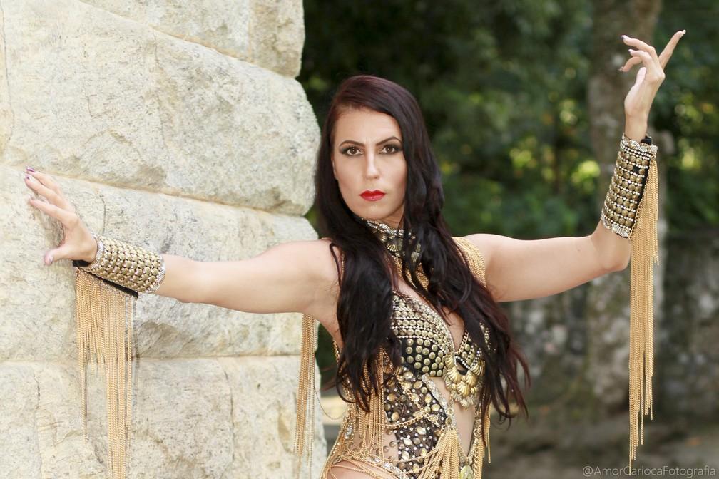 A australiana Mishel Finlayson estreia como musa do Império Serrano â?? Foto: Platinir Pereira/Divulgação
