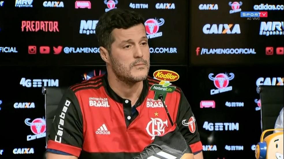 ecd9a0199353c ... Julio Cesar foi apresentado nesta segunda-feira como reforço do Flamengo  — Foto  reprodução