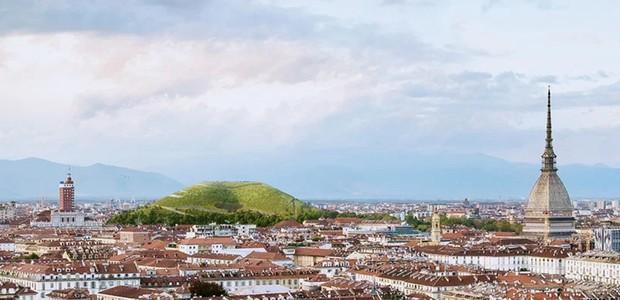 A montanha de 90 metros funcionaria como um parque para a cidade de Amsterdam (Foto: Designboom/ Reprodução)