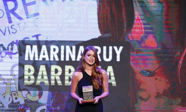 Marina Ruy Barbosa foi a vencedora na categoria Revista O GLOBO