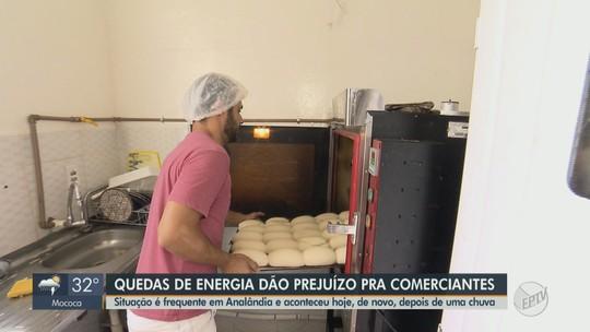 Moradores e comerciantes de Analândia têm prejuízos com quedas de energia