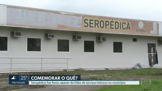 Seropédica comemora aniversário com shows, mas sem serviços básicos no município