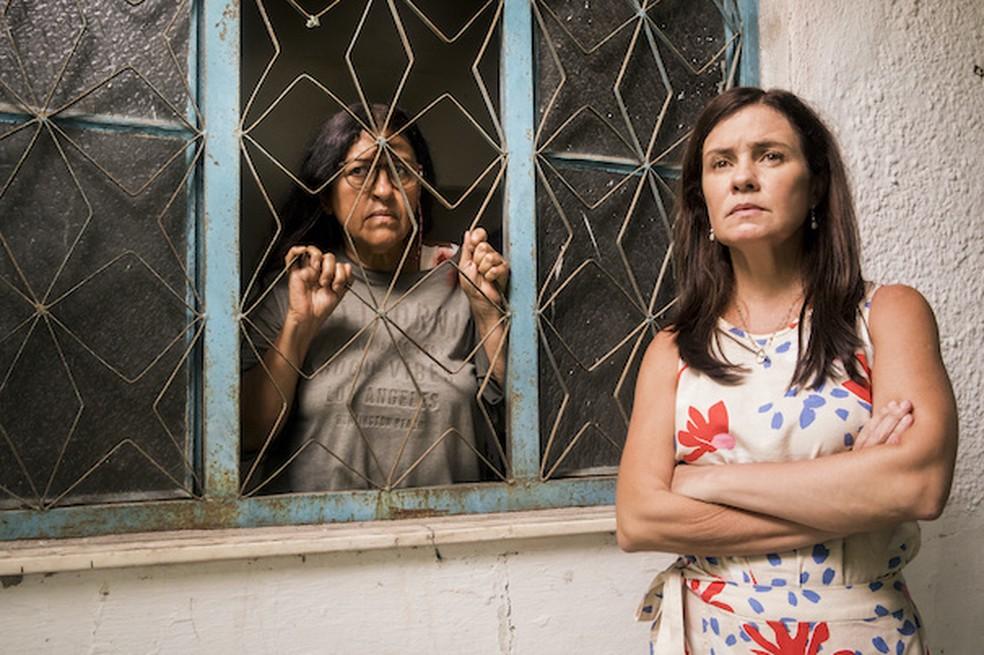 Depois de enfrentar Thelma, Lurdes terá velório virtual organizado pela família e amigos em 'Amor de Mãe' — Foto: Globo / João Miguel Júnior