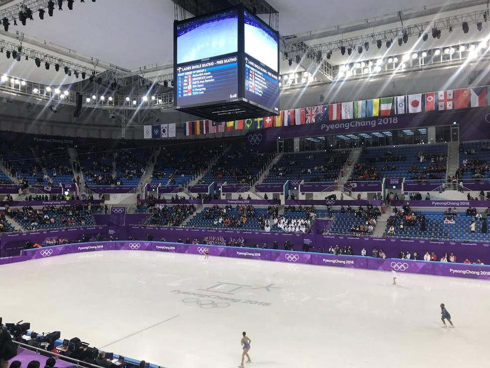 Patinação artística nas últimas Olimpíadas de Inverno, em PyeongChang — Foto: Thierry Gozzer