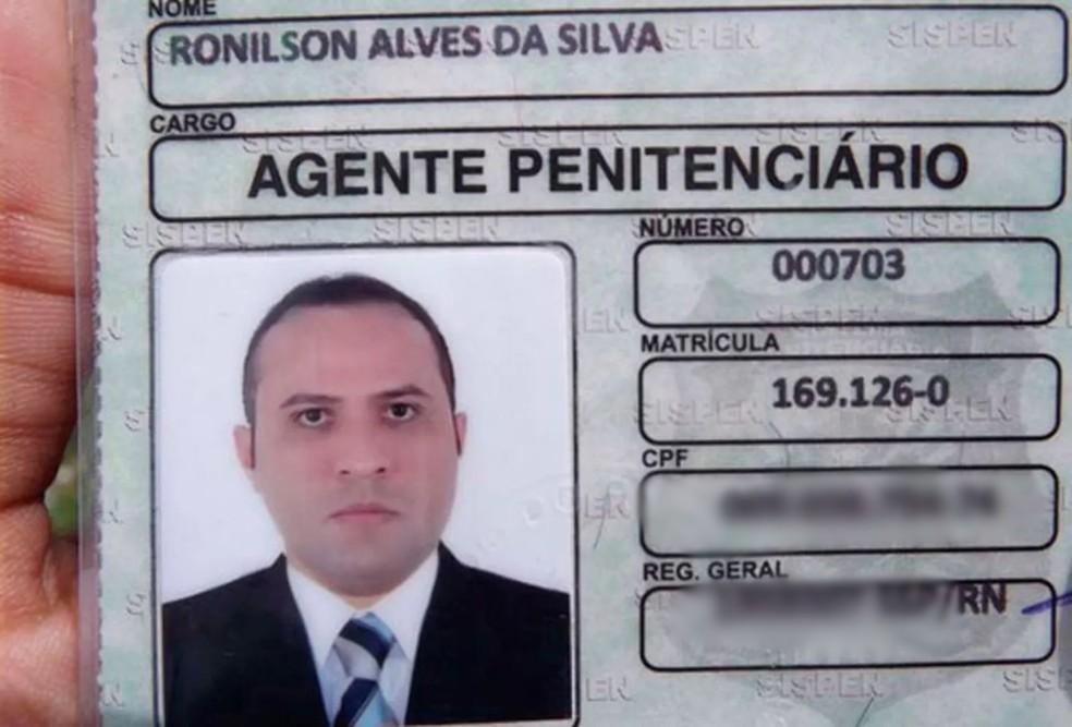 Agente penitenciário Ronilson Alves da Silva — Foto: Marcelino Neto