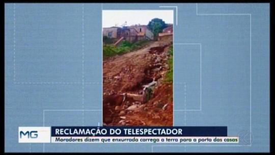Telespectadora de Pará de Minas denuncia situação de rua após chuvas
