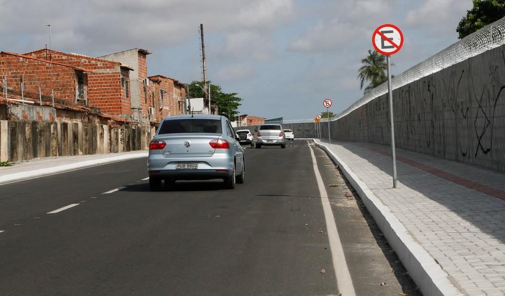 Rua Vereador Narcílio Andrade é inaugurada para melhorar fluxo até o Aeroporto de Fortaleza. — Foto: Prefeitura/ Divulgação