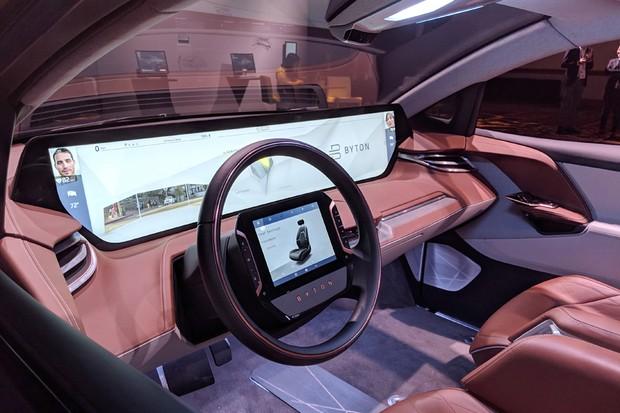 Byton mostra carro com tela gigante na CES 2019 (Foto: Andrej Sokolow / DPA / dpa Picture-Alliance)