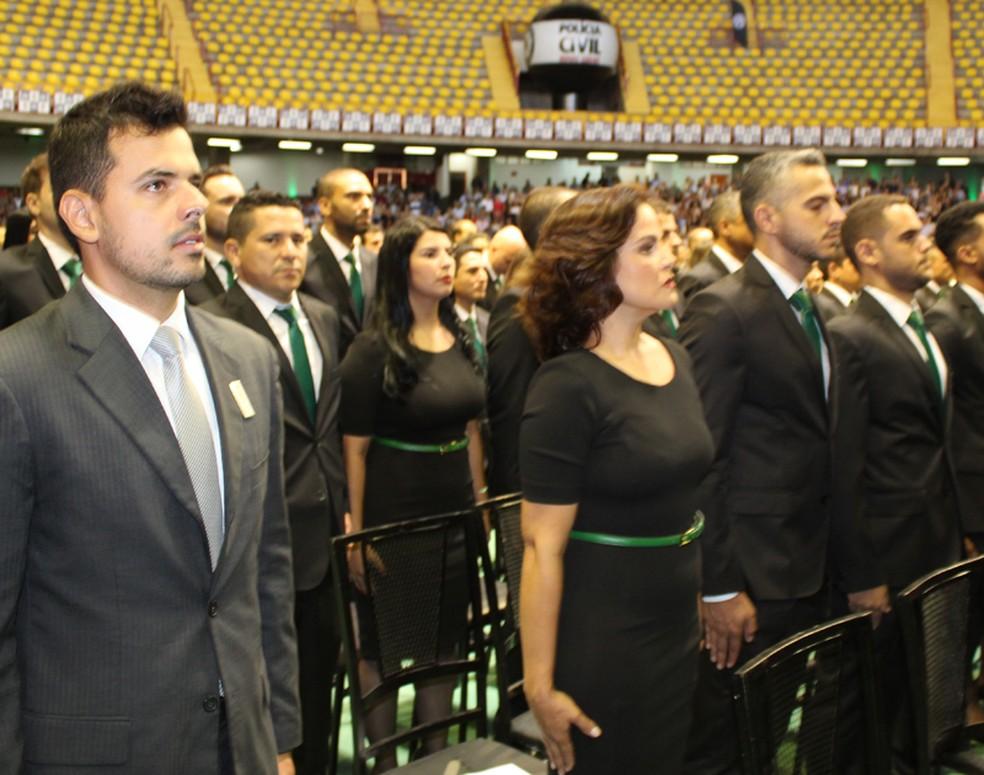 Investigadores fazem parte de turma com mais de 382 profissionais — Foto: Polícia Civil / Divulgação