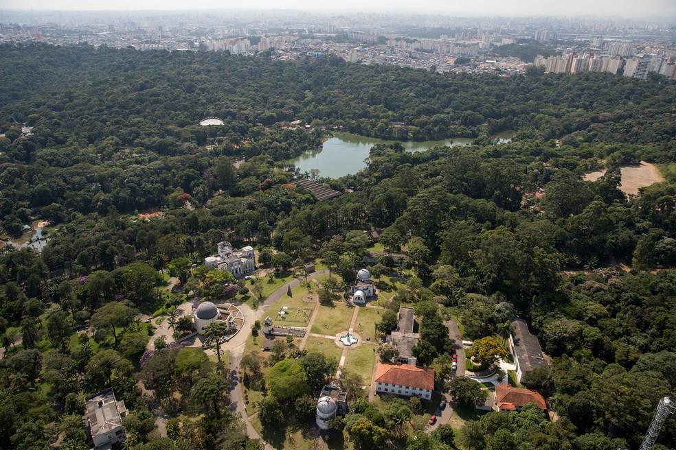 Imagem aérea do Jardim Botânico e Zoológico de São Paulo, na Zona Sul — Foto: Governo de São paulo/Divulgação