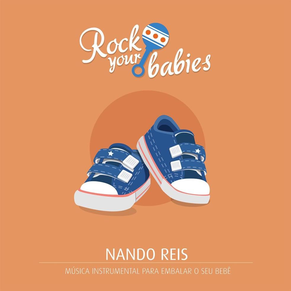 Capa do disco da série 'Rock your babies' com o cancioneiro de Nando Reis — Foto: Divulgação