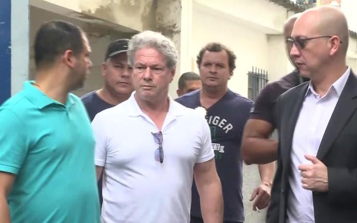O empresário Jacob Barata Filho ao deixar a prisão, em agosto de 2017 (Foto: Reprodução/GloboNews)