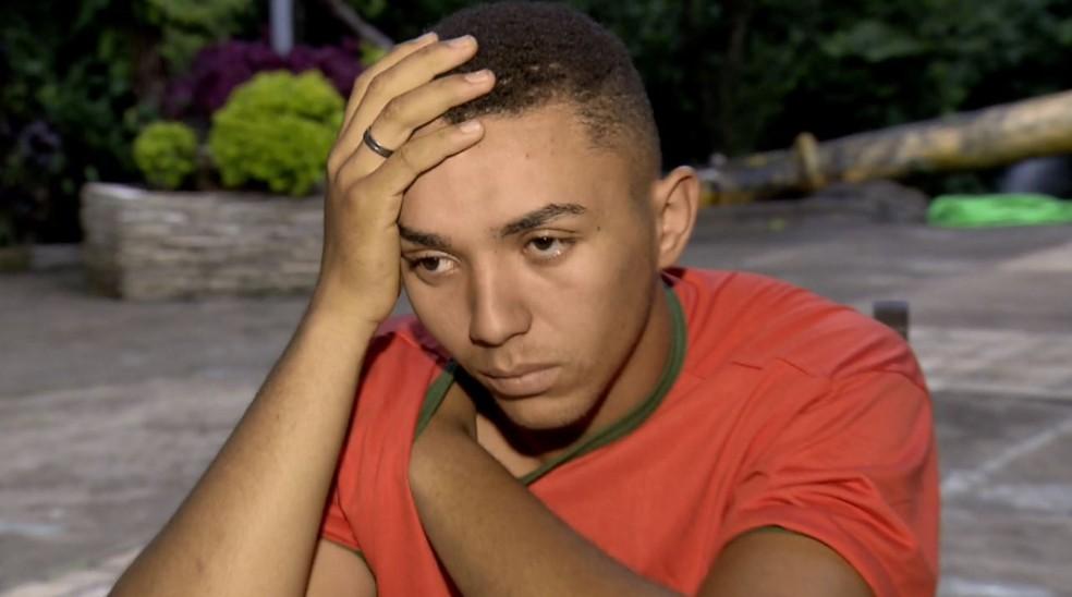 Diego Eugênio sobreviveu a cabeça d'água em cachoeira em MG — Foto: Reprodução/EPTV