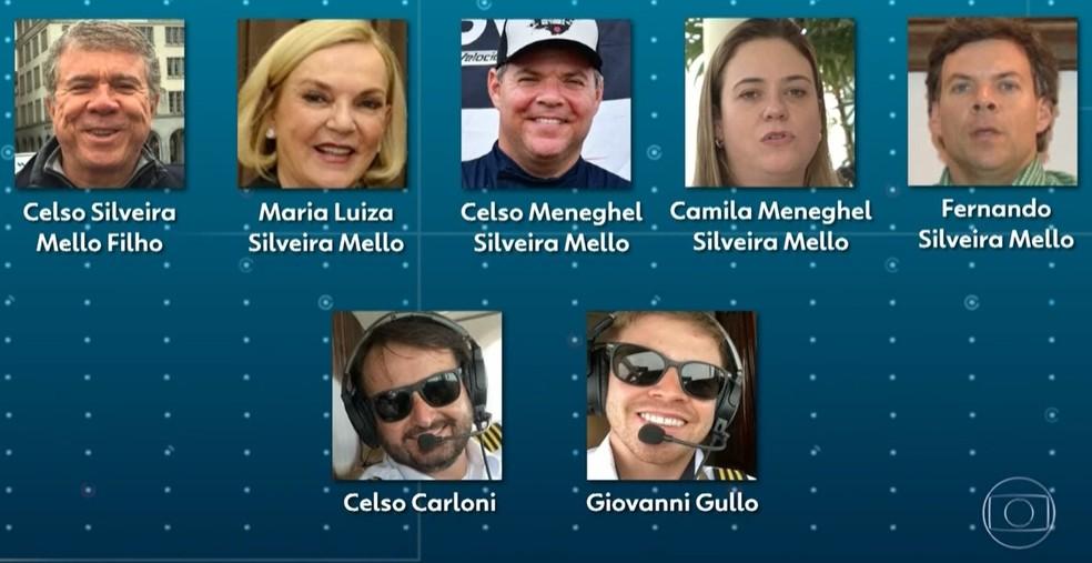 Quem são as vítimas do acidente aéreo em Piracicaba — Foto: Reprodução/ TV Globo