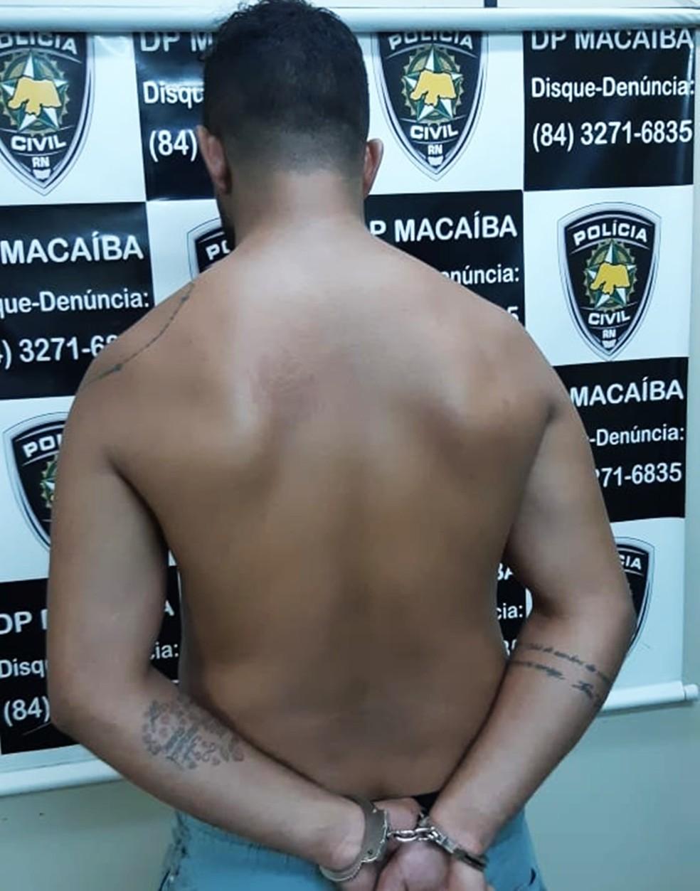Preso estava na casa da sogra, no bairro Residencial Campinas. Não houve resistência. — Foto: Polícia Civil do RN/Divulgação