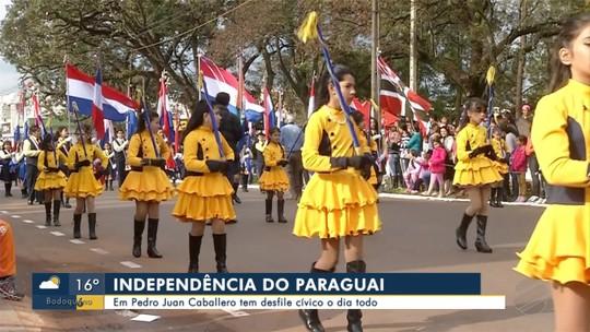Pedro Juan Caballero comemora Independência do Paraguai com desfile cívico o dia todo