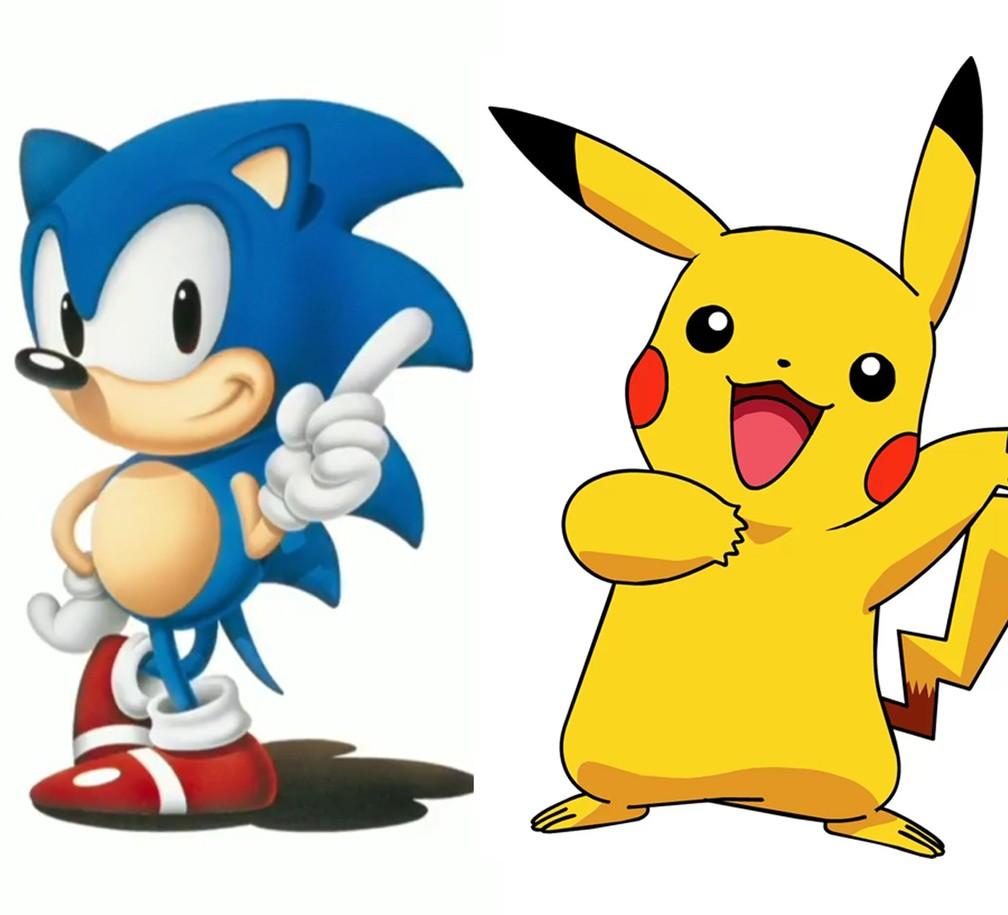 Lisinhos: Sonic e Pikachu nas versões anteriores — Foto: Divulgação