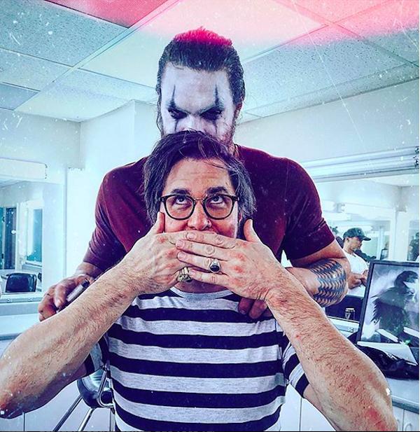 A foto do post no qual o diretor do reboot de O Corvo se despediu da produção e do ator Jason Momoa (Foto: Instagram)