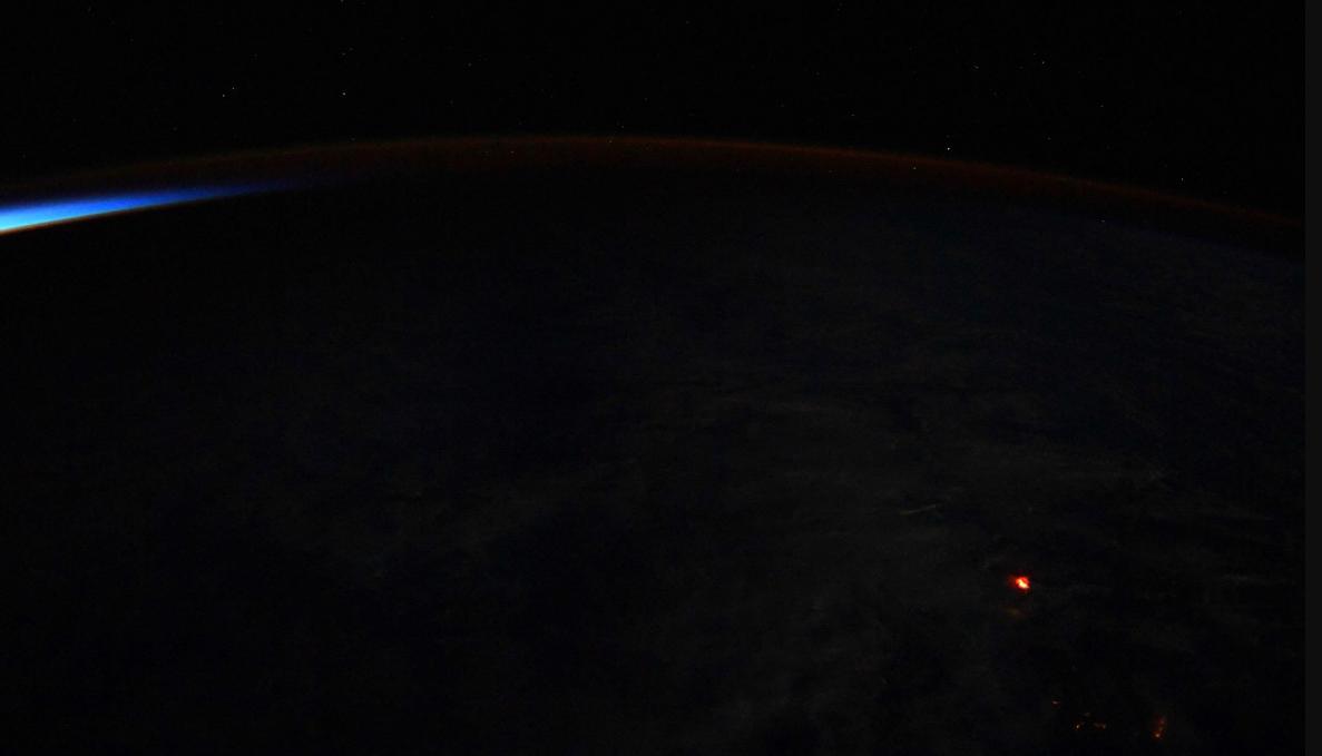 Registro da erupção do Kilauea (Foto: Reprodução)