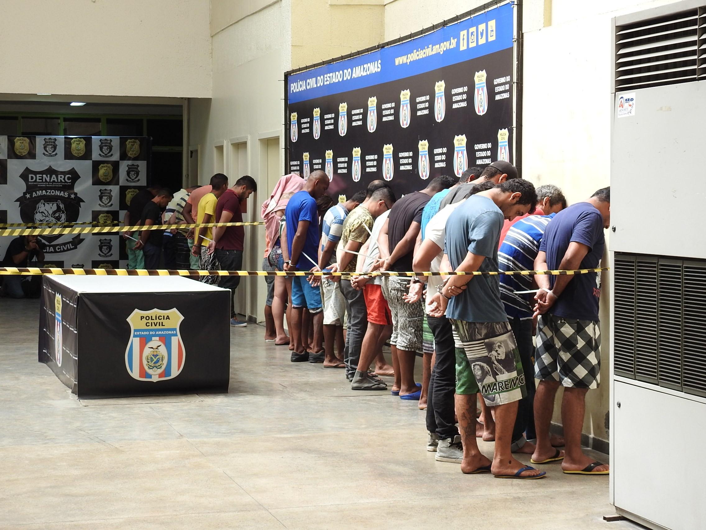 Operação 'Captura' termina com 97 presos e cinco adolescentes apreendidos em Manaus