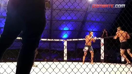 """Fight On 6: Malhadinho fatura cinturão, e Edílson """"BlackGregor"""" repete joelhada voadora"""