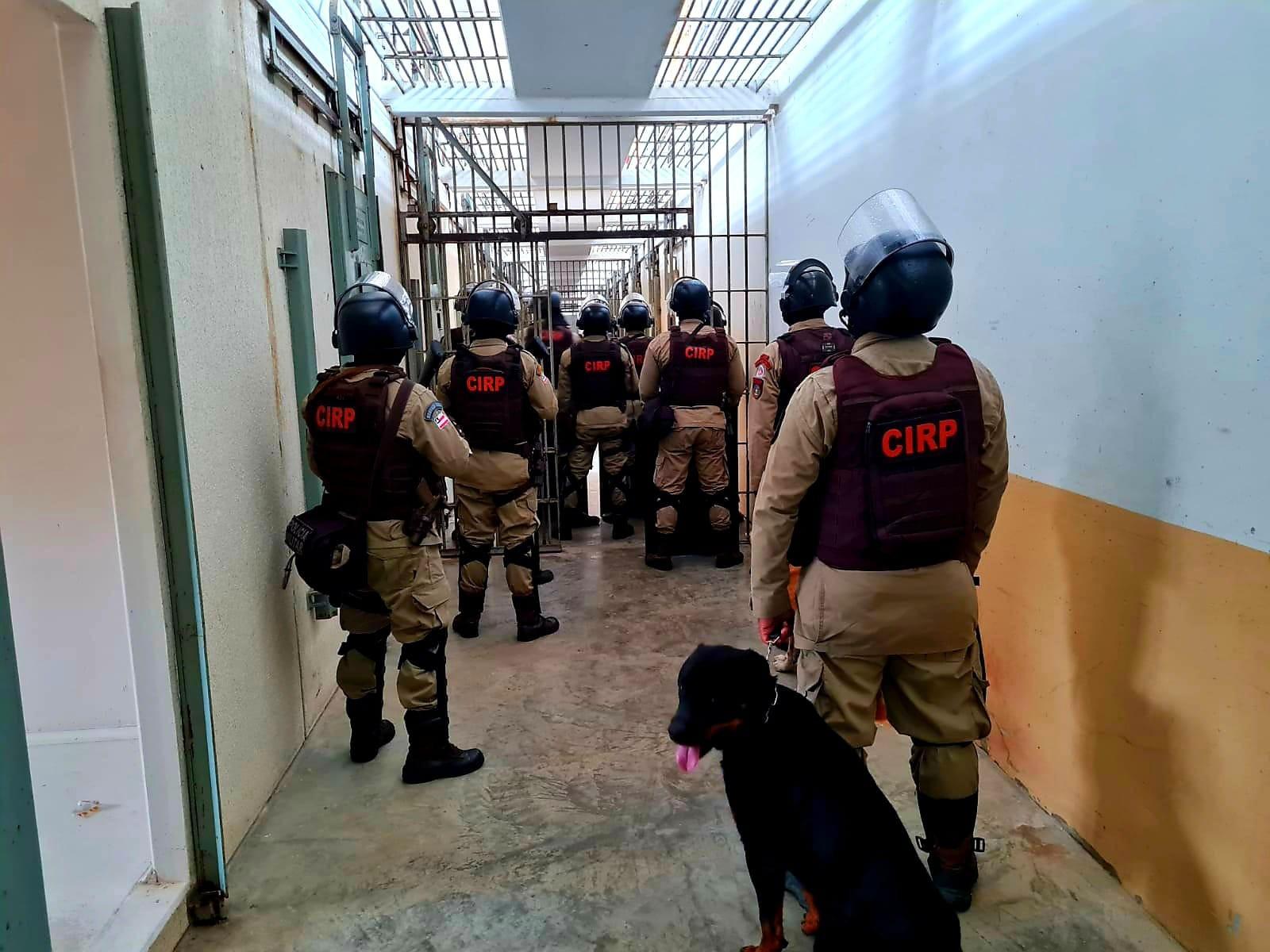 Operação apreende celulares, drogas e faca artesanal em celas de presídio, em Salvador