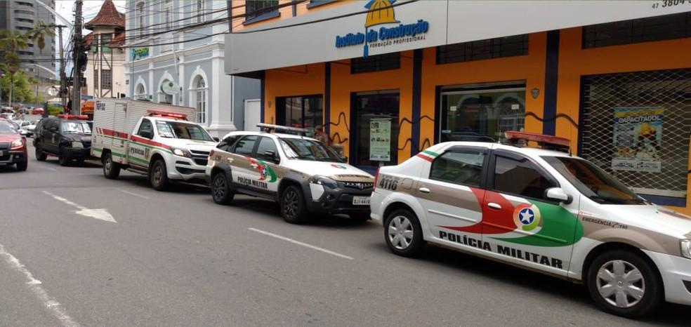 Instituto da Construção, em Joinville. — Foto: Raphael Ribeiro/NSC TV