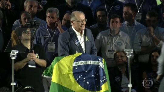 PSDB confirma Alckmin para disputa à Presidência; candidato diz que devolverá 'dignidade roubada' dos brasileiros