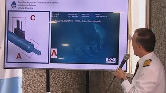 ASSISTA: Marinha da Argentina mostra imagens do submarino