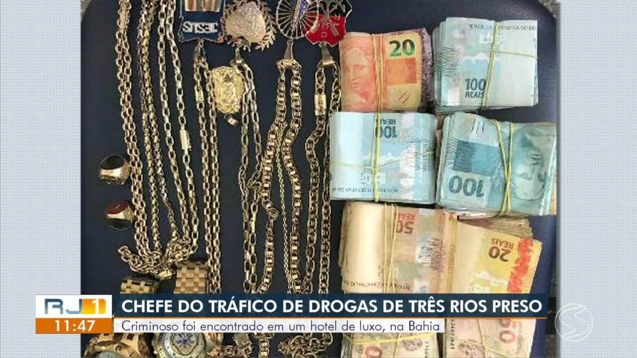 Foragido preso na Bahia é apontado como chefe do tráfico de drogas em Três Rios