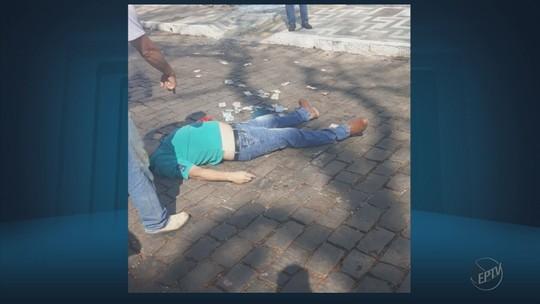 Homem é baleado em troca de tiros após assalto a banco em Guaranésia, MG