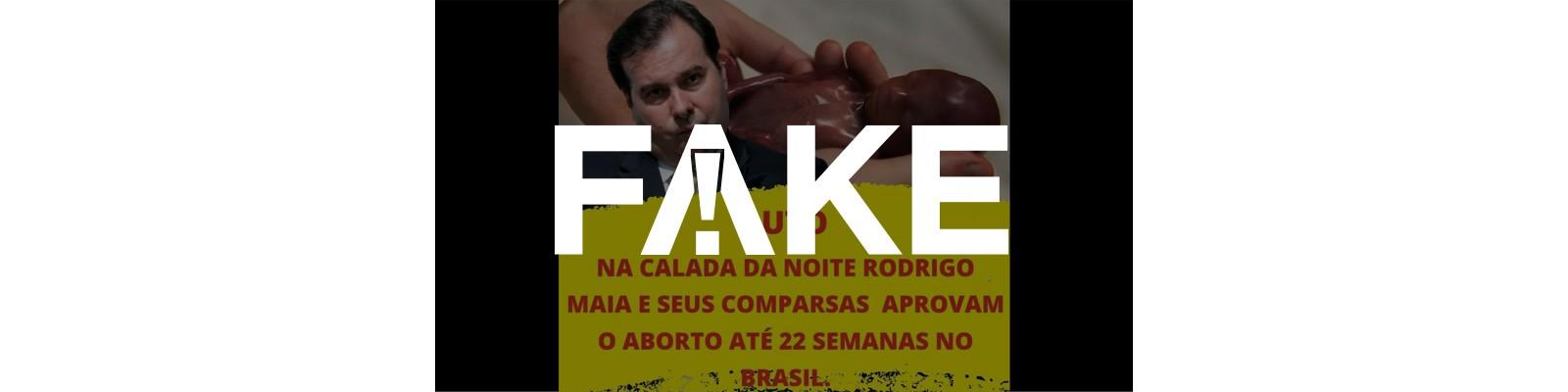 É #FAKE que Câmara aprovou aborto até 22 semanas no Brasil