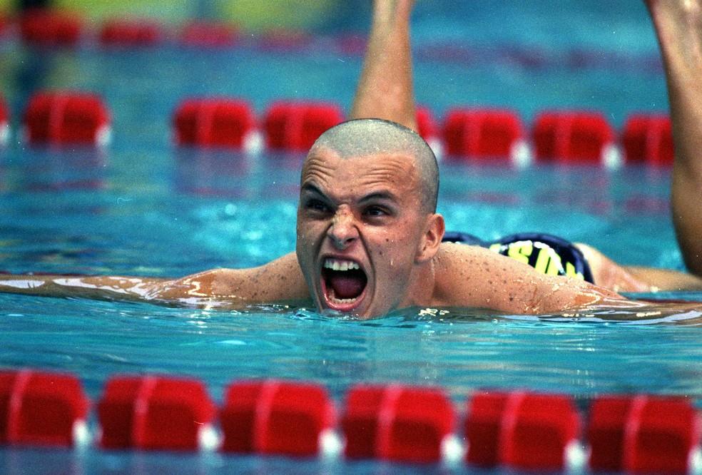 Scott Miller conquistou a prata em Atlanta 1996 — Foto: Getty Images