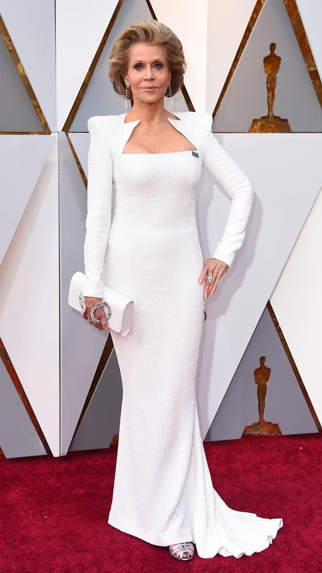 Atriz Jane Fonda chega à cerimônia do Oscar 2018