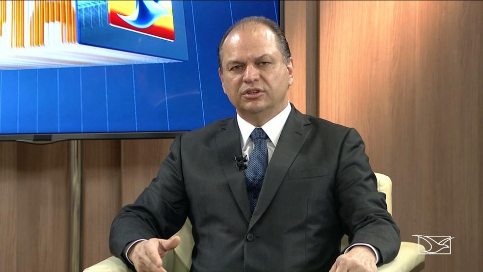 Ministro da Saúde, Ricardo Barros, anuncia a liberação e ampliação de recursos para a saúde no Maranhão. (Foto: Reprodução/TV Mirante)