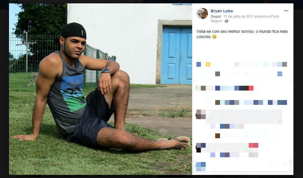 Jovem foi encontrado morto após passar 12 dias desaparecido  — Foto: Reprodução/Facebok