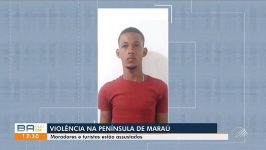 Preso suspeito de estuprar e agredir turista de Brasília em praia da BA; vítima passou mal ao identificar homem