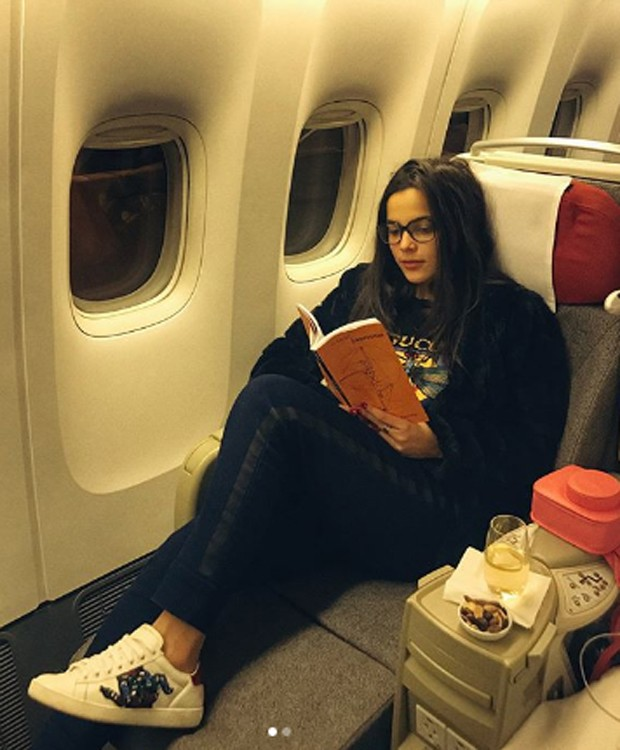 Emilly Araujo retornou ao Brasil em classe executiva de voo (Foto: Reprodução/Instagram)