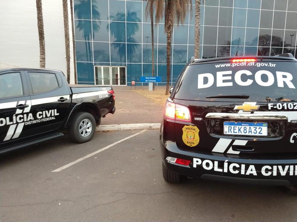 Polícia Civil cumpre mandados na Secretaria de Turismo do DF — Foto: PCDF/Divulgação