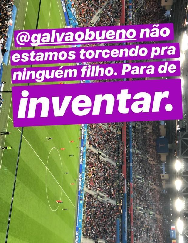 Lucas Jagger manda recado para Galvão Bueno (Foto: Reprodução/Instagram)