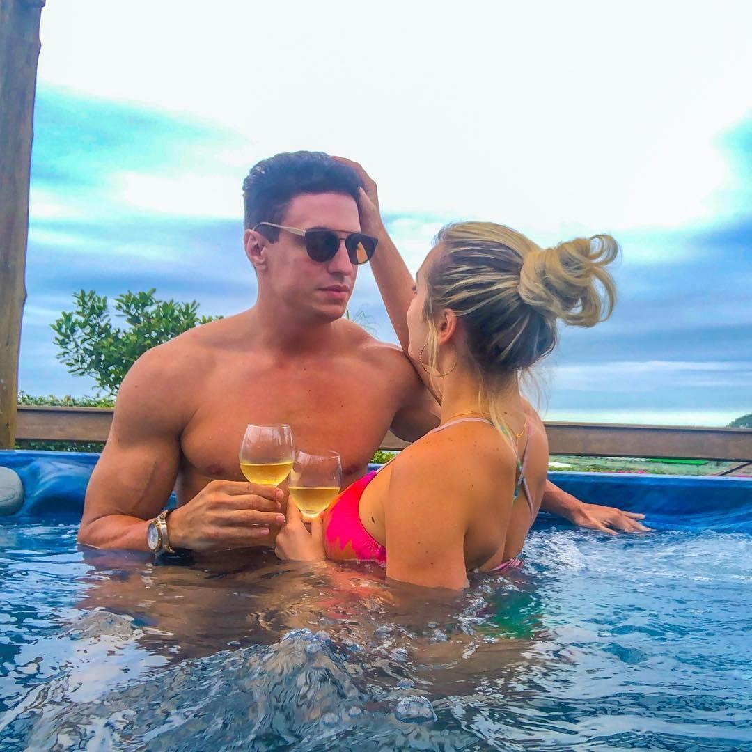 Flavio Ribeiro e Jessica Mueller (Foto: Reprodução Instagram)