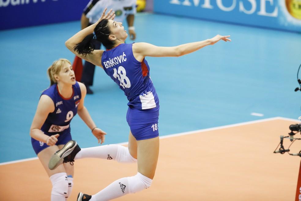 Boskovic foi a principal jogadora da partida — Foto: Divulgação FIVB