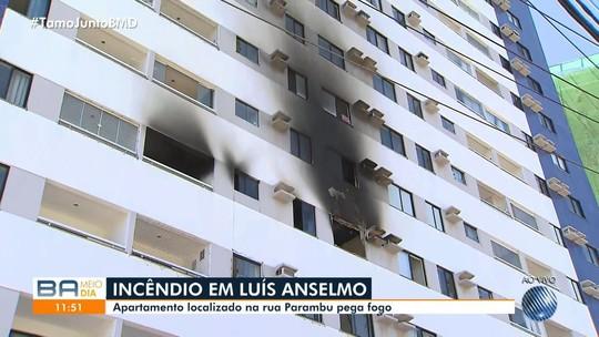 Incêndio atinge apartamento no bairro de Luís Anselmo