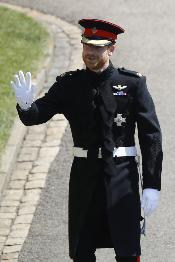 WINDSOR, UNITED KINGDOM - MAY 19:   Prince Harry arrives for the wedding ceremony with Meghan Markle at St George's Chapel, Windsor Castle on May 19, 2018 in Windsor, England. (Photo by Odd Anderson - WPA Pool/Getty Images) (Foto: Getty Images)